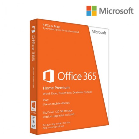Office 365 HOME PREMIUM 5PC 5M 1YR SUB KEY ONLY EMAIL U